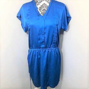 Banana Republic Satin Cinched Waist Tunic Dress